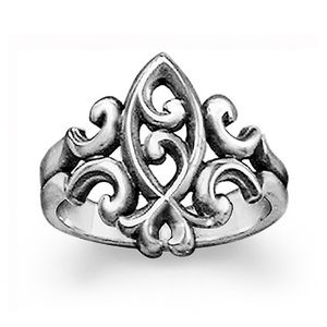 Scrolled Ichthus Ring James Avery size 6